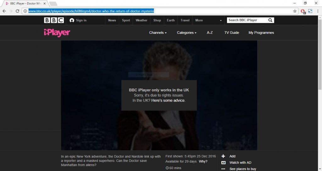 bbc iplayer norge