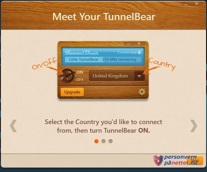 Evaluering av TunnelBear VPN